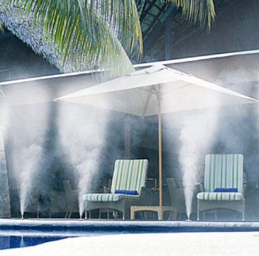 nebulizzatore su piscina